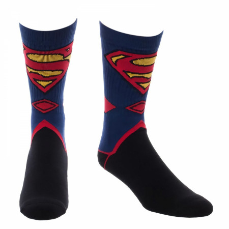 Superman Costume Crew Socks
